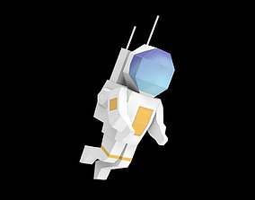 3D model low-poly Astronaut