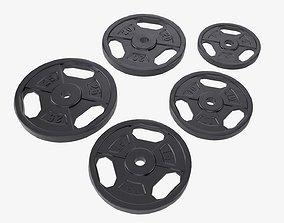 Weight plate set 05 3D model