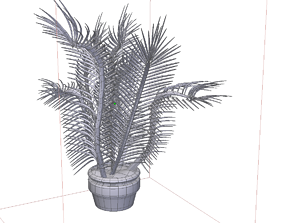 Palm or plant 3D model