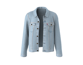 Jeans jacket levis style jeans 3D