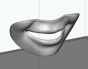 3D printable model Smile line checker lip plate