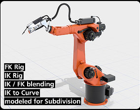 KUKA Hybrid Laser welding Robot IK and FK 3D