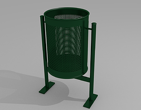 3D City trash can