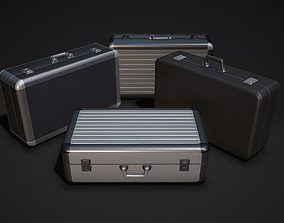 aluminum Metal Briefcases - Low and High Poly Models