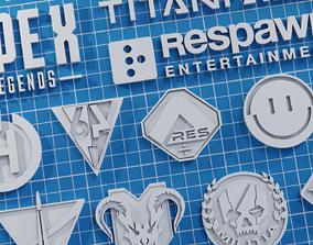 3D print model Apex legends Titanfall logo and symbols