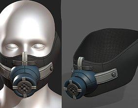 Gas mask respirator scifi realtime 1