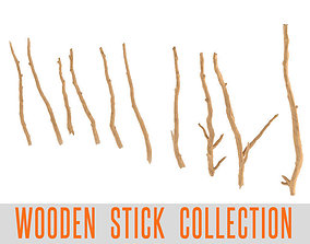 realtime Wooden Stick Branch Bat Rod Collection Game 3