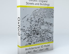 3D model Oxford Streets and Buildings