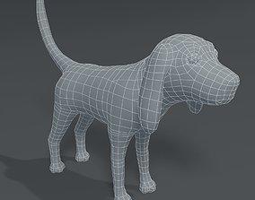 VR / AR ready Cartoon Dog Hound Base Mesh 3D