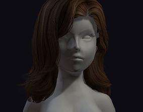 beauty hair 3D asset