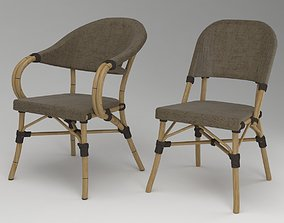 3D model rotang bamboo chairs