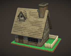 industrial-container Medieval House 3D asset game-ready