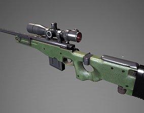 3D model AWM Sniper Rifle PBR
