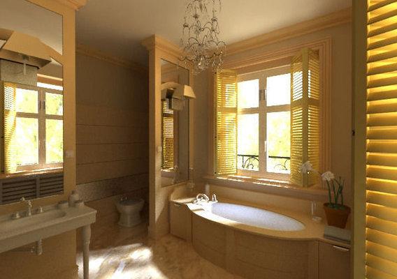 Classicist style bathroom