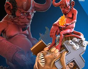 Hellboy 3D printing ready fanart