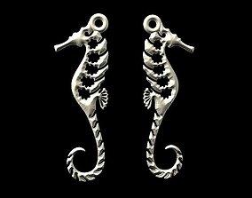 3D printable model Sea horse earrings