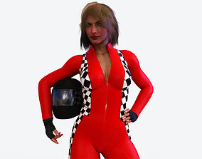 3D model Female Racing Pilot