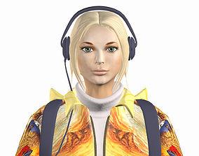 Teenage girl Lisa 3D model VR / AR ready