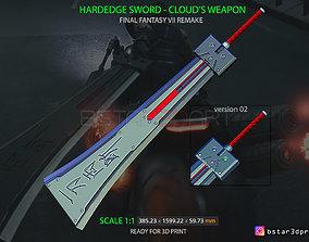 3D print model HardEdge Sword Cloud - Final Fantasy VII