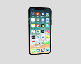 3D model low-poly iphone 11 pro