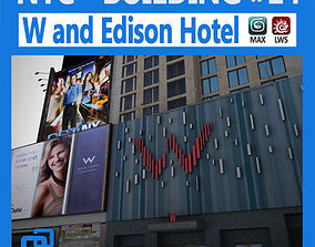 3D model NYC Building W and Edison Hotel