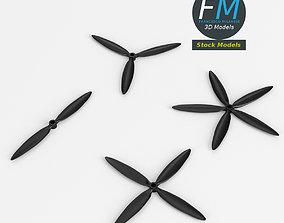 Airplane propellers 3D model