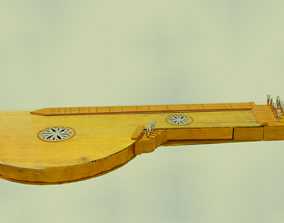 3D model VR / AR ready zither