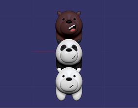 3D printable model we bare bears