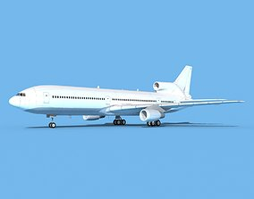 Lockheed L1011 Unmarked 1 3D model
