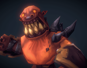 Demon Grunt - Low Poly Hand Painted 3D model