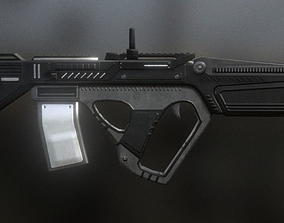 3D model Futuristic Assault Rifle