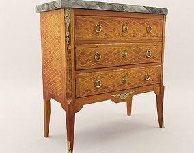 brass Neoclassical commode - Around 1840 3D
