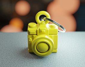 Toon Camera Keychain - Printer Ready