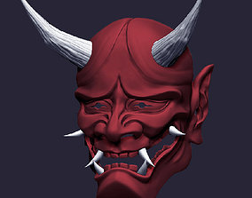 Hannya Mask stl for printing samurai 3D printable model