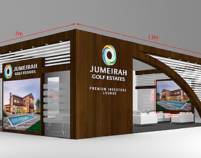 3D Exhibition Stand Booth 13x7m
