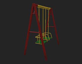 Playground Swing 1 3D asset