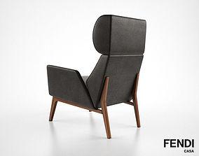 3D Fendi Casa Hermann armchair