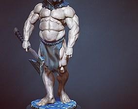3D printable model barbarian bear