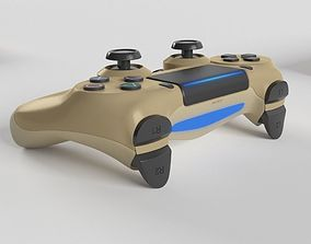 3D model Sony PlayStation 4 DualShock Controller Gold