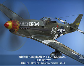 North American P-51D Mustang - Old Crow 3D model