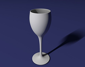 White wine glass 3D printable model