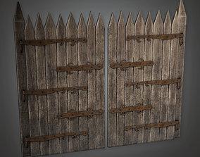 Outdoor Gate 12 - GFS - PBR Game Ready 3D asset