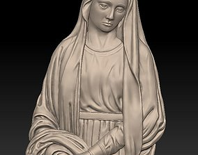 3D printable model Mary mother of Jesus - relief - 2017