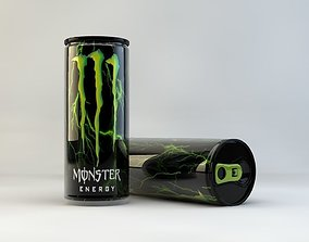 realtime M Energy Drink Can 3D model