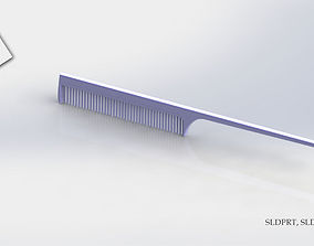 3D printable model Hair comb with molds ready for