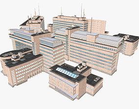 Modern Office Buildings Set 3D model