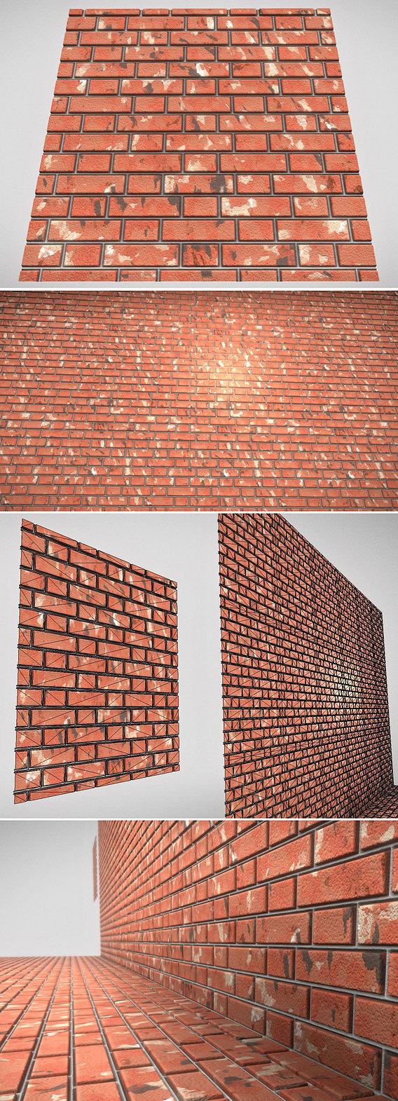 Old Brick Wall (Mid-Poly)