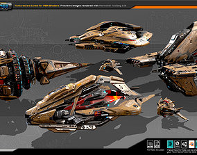 Spaceships Vol-18 3D model realtime