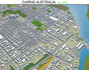 Cairns Australia 50km 3D model