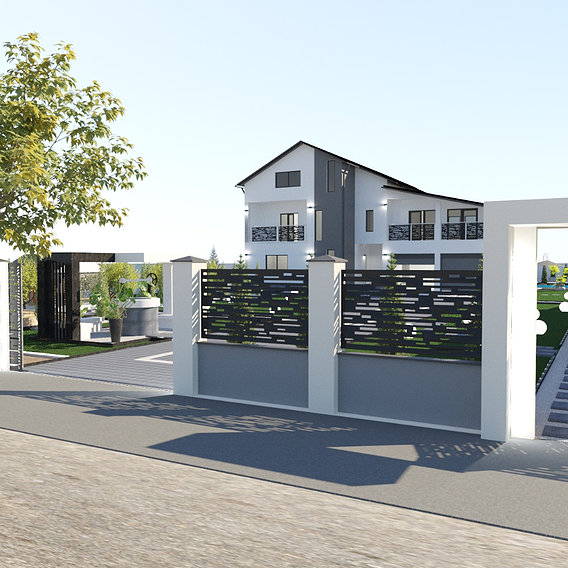 Family villa, interior and exterior design and renders